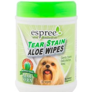 Espree Tear Stain Wipes - влажные салфетки с алоэ для глаз