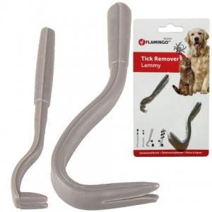 Специальный инструмент {Flamingo Tick Remover Lemmy} для безопасного удаления клещей | Petplus