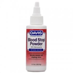 Davis Blood Stop Powder - кровоостанавливающий порошок с бензокаином для собак и котов