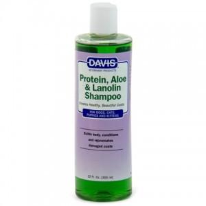 Специальный шампунь для собак и кошек «Davis Protein & Aloe & Lanolin Shampoo» | Шампунь - Увлажняющий - Собаки - Дэвис: снимает раздражение и зуд | страна-производитель: США | Petplus