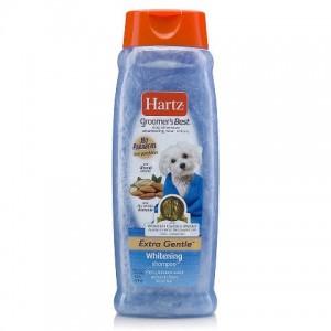 Естественный блеск белой, серебряной и светлой шерсти шампуня «Hartz Groomer`s Best  Whitening Shampoo Dogs» | Шампунь «Хартц Собаки Белый окрас Взрослые»: экстра-нежный шампунь для собак | страна-производитель: США | Petplus