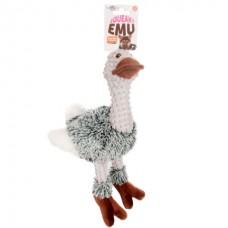 Flamingo Emu Plush - мягкая игрушка для собак с пищалкой