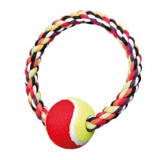 Trixie Rope Ring with Tennis Ball - игровой канат с тенисным мячом