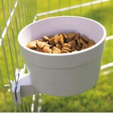 Savic Crock Feeding Dish with Screw Fastening - кормушка с креплением в клетку, пластик
