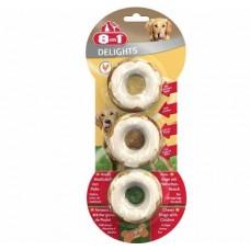 8 in 1 Delights Rings - колечки для собак с мясом (3шт)