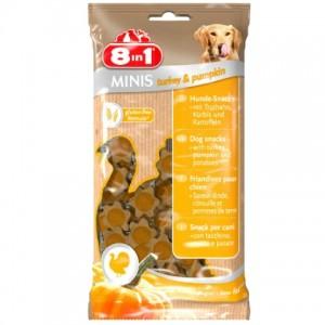 8 in 1 MINIS Turkey and Pumpkin - лакомство для собак Индейка с тыквой и картофелем