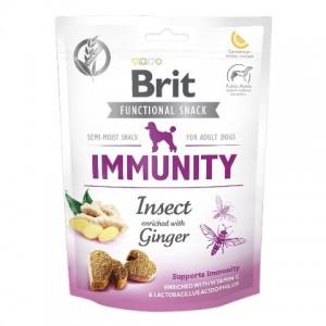 Беззерновое полувлажное лакомство с белком насекомых и имбирем Brit Care SNACK IMMUNITY для поддержания иммунитета у собак