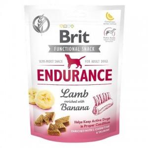 Беззерновое полувлажное лакомство Ягнятина обогащенная бананом Brit Care Endurance Lamb для поддержания хорошей физической формы у собак