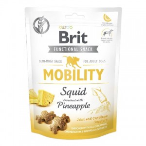 Лакомство Брит с кальмаром и ананасом | Угощение Brit Care Mobility Squid and Pineapple - функционирование суставов и хрящей всех взрослых собак