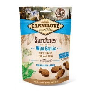Лакомства для собак «Carnilove Semi-Moist Sardines Wild Garlic» - как доппитание к основному корму | «Карнилав»: лакомство в виде снэков для собак | страна - производитель: Чехия | зоомагазин Petplus