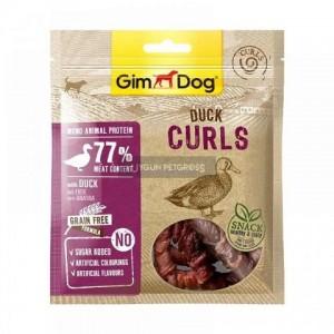 Лакомства для собак «Gimdog Superfood Meat Duck Curls» - мясные спиральки с уткой   «ДжимДог»: лакомство высушено на воздухе из отборочного филе   страна - производитель: Германия   зоомагазин Petplus