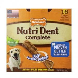 Nylabone Nutri Dent Filet Mignon Large лакомство для чистки зубов собак больших пород