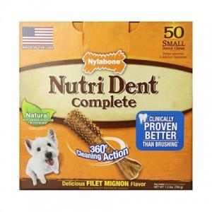 Nylabone Nutri Dent Filet Mignon Small ☆ НИЛАБОН НУТРИ ДЕНТ ФИЛЕ МИНЬОН жевательное лакомство для чистки зубов собак до 7 кг, вкус филе миньон