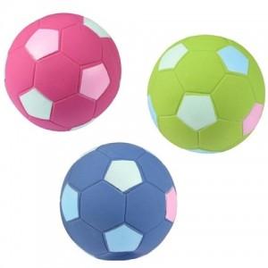 Латексная игрушка с пищалкой для собак {Фламинго Мяч Футбольный} используется как обычный мяч, подходит для дрессуры   Petplus