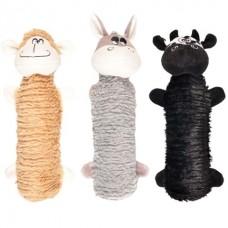 Flamingo Toy Squeaker Donkey/Sheep/Cow - игрушка с пищалкой для собак