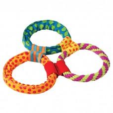 """PETSTAGES Healthy Hoops - игрушка для собак """"Три кольца текстильные"""""""