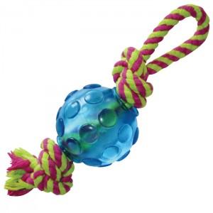 "PETSTAGES Mini Orka Ball With Rope - игрушка для собак малых и карликовых пород ""Орка мини мячик с канатиками"""