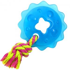 """PETSTAGES Mini Orka Ring with Rope - игрушка для собак """"Мини Орка звездочка с канатом"""""""