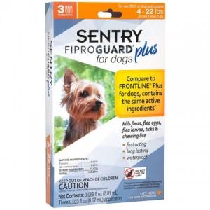 FiproGuard (Фипрогард) Plus Sentry for Dogs - капли от блох, клещей, вшей для собак (до 10кг)