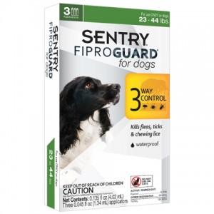 FiproGuard (Фипрогард) Sentry for Dogs 3in1- капли от блох, клещей и вшей для собак (10-20кг)