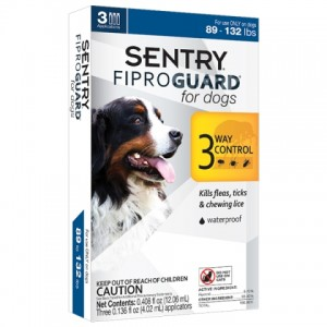 FiproGuard (Фипрогард) Sentry for Dogs 3in1 - капли от блох, клещей и вшей для собак (40-60кг)