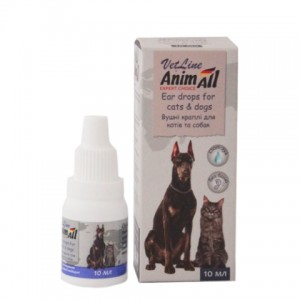 AnimAll «Энималл» VetLine Ear Drops for Cats and Dogs - ушные капли для собак и кошек