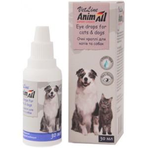 Купить капли по уходу за глазами собак и кошек «AnimAll VetLine Eyes» - Petplus