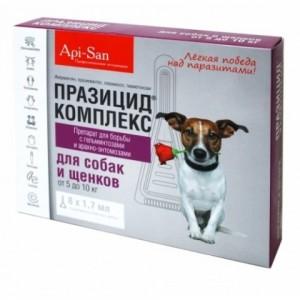 Капли на холку для собак и щенков {ПРАЗИЦИД-КОМПЛЕКС} эффективная защита от паразитов | Продукция бренда «Api-San» - защита – 30 дней | Petplus