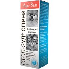 Api-San СТОП-ЗУД СПРЕЙ лечение заболеваний кожи у собак и кошек