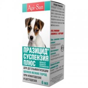 API-SAN ПРАЗИЦИД-СУСПЕНЗИЯ ПЛЮС сладкая для щенков малых пород
