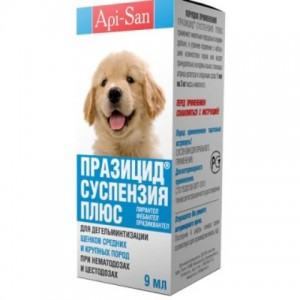 Api-San ПРАЗИЦИД-СУСПЕНЗИЯ СЛАДКАЯ для щенков средних и крупных пород