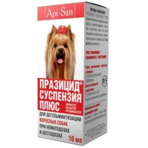 Api-San ПРАЗИЦИД-СУСПЕНЗИЯ ПЛЮС СЛАДКАЯ для собак