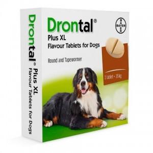 Bayer (Байер) Drontal XL Dog (ДРОНТАЛ ХL) - антигельминтик для собак крупных пород широкого спектра действия, таблетки