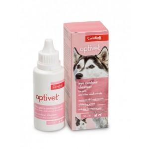 Гигиенический лосьон для чистки глаз у собак и кошек: «Кандиоли Оптивет»   Candioli Optivet - удаляет загрязнения при чрезмерном выделении слез: страна - производитель Италия   Petplus