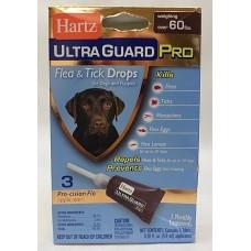 Hartz Ultra Guard Pro 5in1 - капли от блох, яиц блох, их личинок, клещей, и комаров для собак и щенков свыше 27 кг.