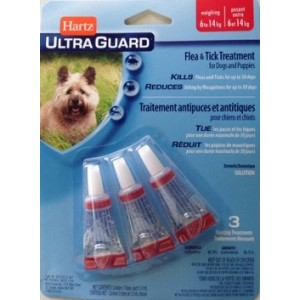 Hartz Ultra Guard 3 в 1 ☆ Капли для собак от блох и клещей от 6 до 14 кг
