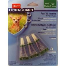 Hartz Ultra Guard Flea s Tick Drops for Dogs s Puppies 3 в 1 ☆ Капли для маленьких собак от 2 до 6 кг