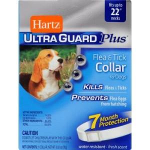 Hartz UltraGuard (Харц) Ultra Guard Plus Flea s Tick Collar Fot Dogs ★ Ошейник от блох и клещей для собак
