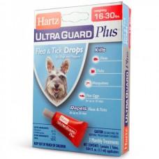 Hartz UltraGuard PLUS Flea & Tick Drops for Dogs and Pappies - Капли 4 в 1 от блох, яиц блох и их личинок, клещей и комаров для щенков и собак от 7 - 14 кг.