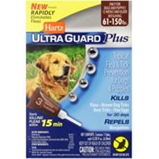 Hartz UG PLUS Flea & Tick Drops for Dogs and Pappies  ☆  4 в 1- Капли от блох, яиц блох и их личинок, клещей и комаров для щенков и собак весом более 27 кг.