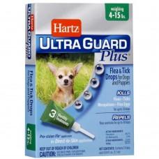 Hartz Ultra Guard PLUS Flea & Tick Drops ★ Капли для собак и щенков мелких пород  от блох, яиц блох и их личинок, клещей и комаров 4 в 1 (1,8 - 7 кг)