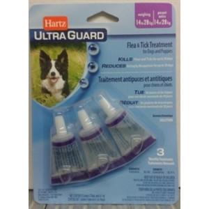 Капли Hartz UG PLUS™ Flea & Tick Drops for Dogs and Pappies 4 в 1 ☆ от блох, яиц блох и их личинок, клещей и комаров (для щенков и собак от 14-27 кг.)