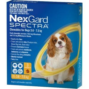 Nexgard Spectra for Dogs - жевательные таблетки от блох, клещей и глистов для собак от 3,5 до 7,5 кг