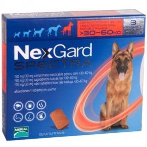 Nexgard Spectra for dogs - жевательные таблетки от блох, клещей и глистов для собак от 30 до 60 кг