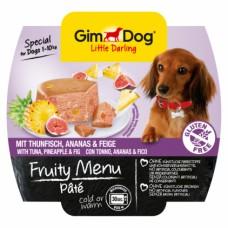 GimDog Little Darling Fruity Menu рагу из тунца с ананасом и инжиром для собак