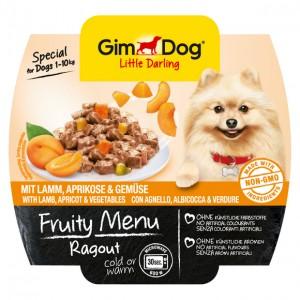 GimDog Little Darling Fruity Menu рагу из ягненка, абрикоса и овощей для собак