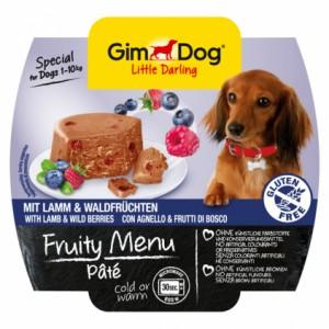 GimDog Little Darling Fruity Menu рагу из ягненка с лесными ягодами для собак