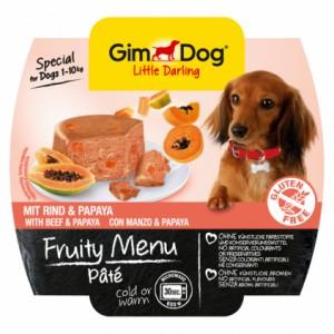 GimDog Little Darling Fruity Menu рагу из говядины с папайей для собак
