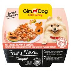GimDog Little Darling Fruity Menu рагу с лососем, папайей и овощами для собак