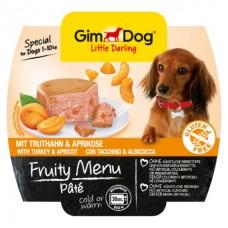 GimDog Little Darling Fruity Menu рагу из индейки с абрикосом для собак